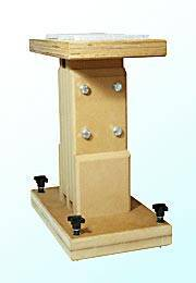 Adjustable height speaker stands